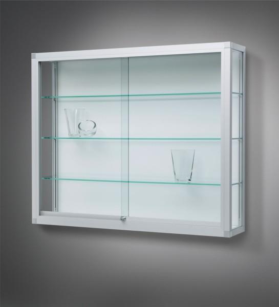 Wandvitrine Glas mit Schiebetüren