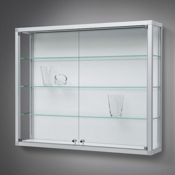 Wandvitrine Glas mit Drehtüren