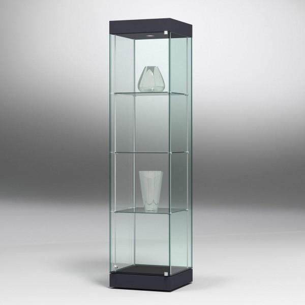 Säulenvitrine Ganzglas mit Deckel